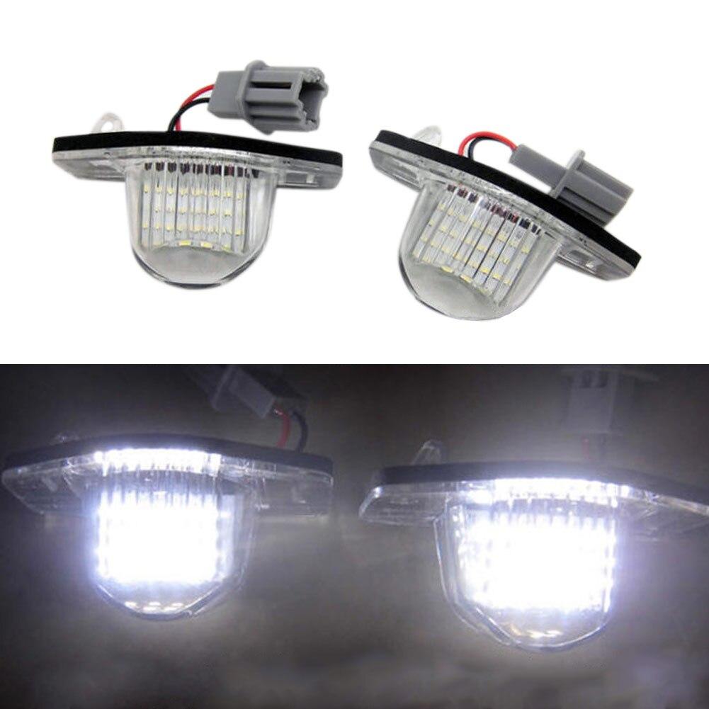 Nueva 2 unids/set 18 lámpara LED number Marcos de matrícula para Honda Fit Jazz Odyssey corriente Insight CRV FRV hr-v V crosstour 5d dxy