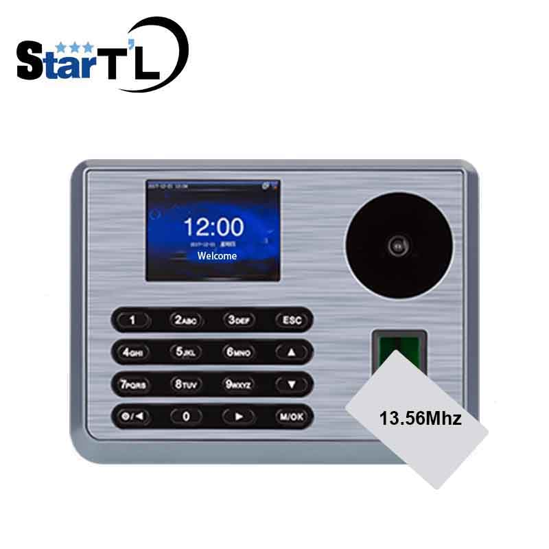 Free SoftwarePalm Time Attendance Employee Biometric Electronic Attendance With MF 13.56Mhz Card Fingerprint Reader