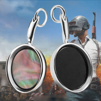 2017 STG Game Playerunknown's Battlegrounds Pans Necklace 925 Silver PUBG Pan Weapon Model Pendant Necklace Men Christmas Gift
