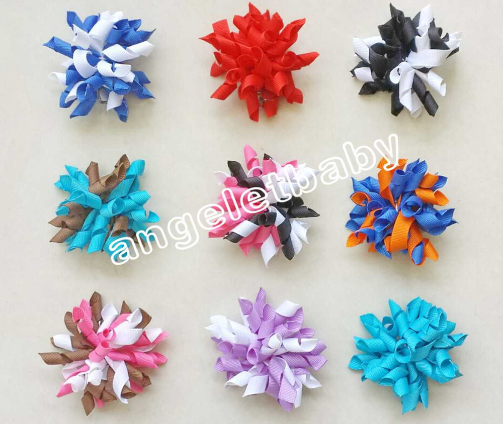 100pcs 2 5 bows flower corker hair bobbles barrettes korker ribbon alligator clip hair ties bow