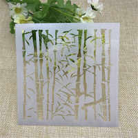 BambooPlastic Layering Stencils for DIY Scrapbooking/photo album Decorative Embossing DIY Paper Cards Crafts
