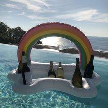 Летняя Вечеринка ведро Радуга облако подстаканник надувной бассейн поплавок пиво питьевой охладитель стол бар лоток пляж плавательный кольцо
