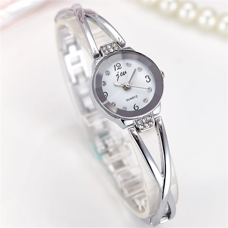New Fashion Rhinestone Watches Women Luxury Brand Stainless Steel Bracelet watches Ladies Quartz Dress Watches reloj mujer Clock 2