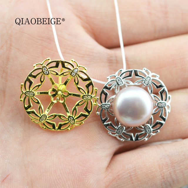 Qiaobeige Diy Large Erfly Pearl Bead Pendant Mounting Make Your Own Necklace Online China