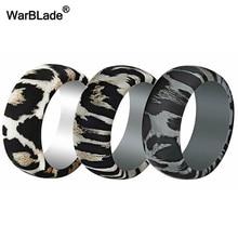 Новые силиконовые кольца с леопардовым принтом для мужчин, свадебные резинки, гипоаллергенные гибкие спортивные антибактериальные силиконовые кольца на палец