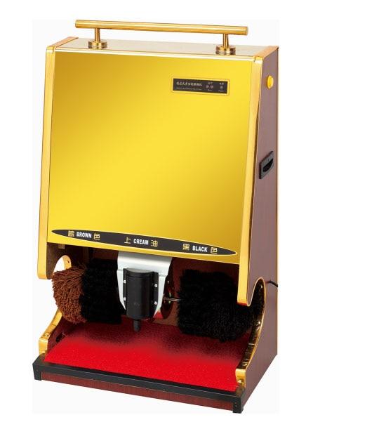 Das Beste Elektrische Schuh Glanz Ausrüstung Hotel Voll-automatische Schuh-glanz Maschine Multi Funktionale Edelstahl Bürste Polierer Goldene Farbe