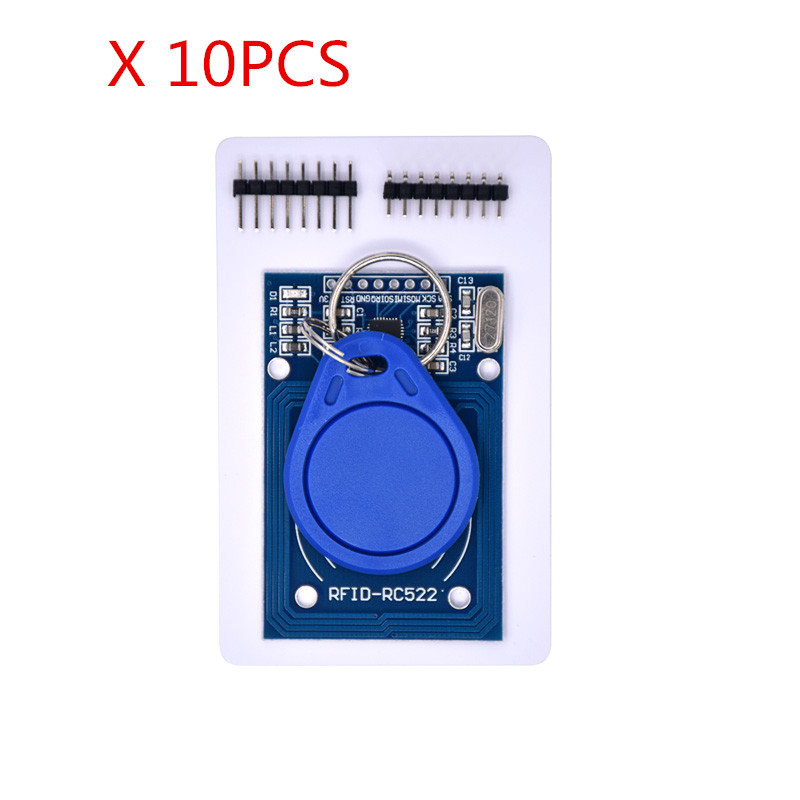 Free shipping 10pcs MFRC-522 RC522 RFID RF IC card inductive module MFRC 522 free shipping mfrc 522 rc522 rfid rf ic card inductive module with free s50 fudan card key chain wholesale