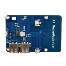 Raspberry Pi 3 Lithium Battery PowerPack Expansion Board Dual-USB Mobile Power Supply Charging Module 5V 1A For Raspberry Pi v1 0 lithium battery expansion board for cellphone raspberry pi 3 model b pi 2b b