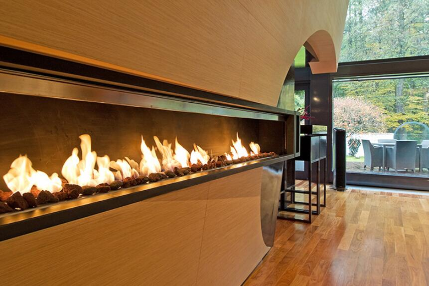 72 Inch Real Fire Indoor Intelligent Smart Automatic Bio-ethanol Fireplace