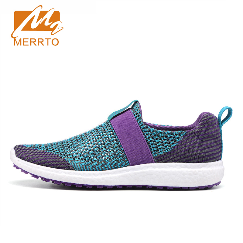 2017 Merrto Lovers Walking Shoes Lightweight Breathable Summer Sneakers Mesh Slip On For Lovers Free Shipping MT18606/MT18605 2017 kids summer shoes new air mesh for children holes candy color slip on unisex breathable running fashion sport cool sneakers