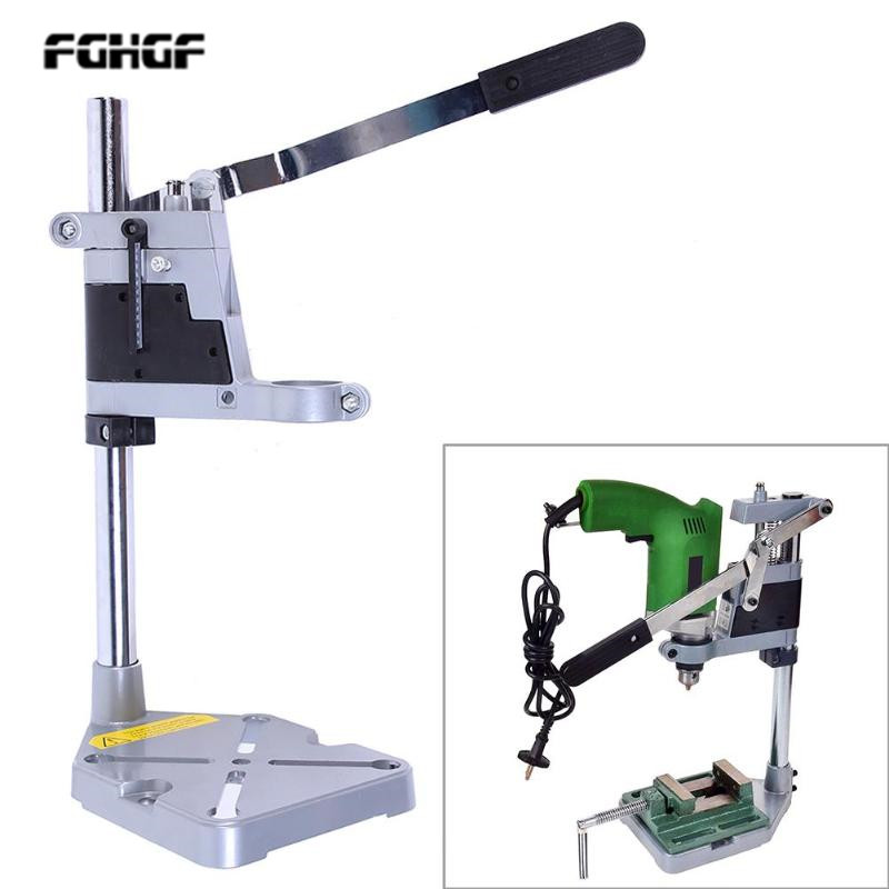Double electric drill stand holder Dremel grinder frame bracket fixture grinding machine woodworking tool accessories