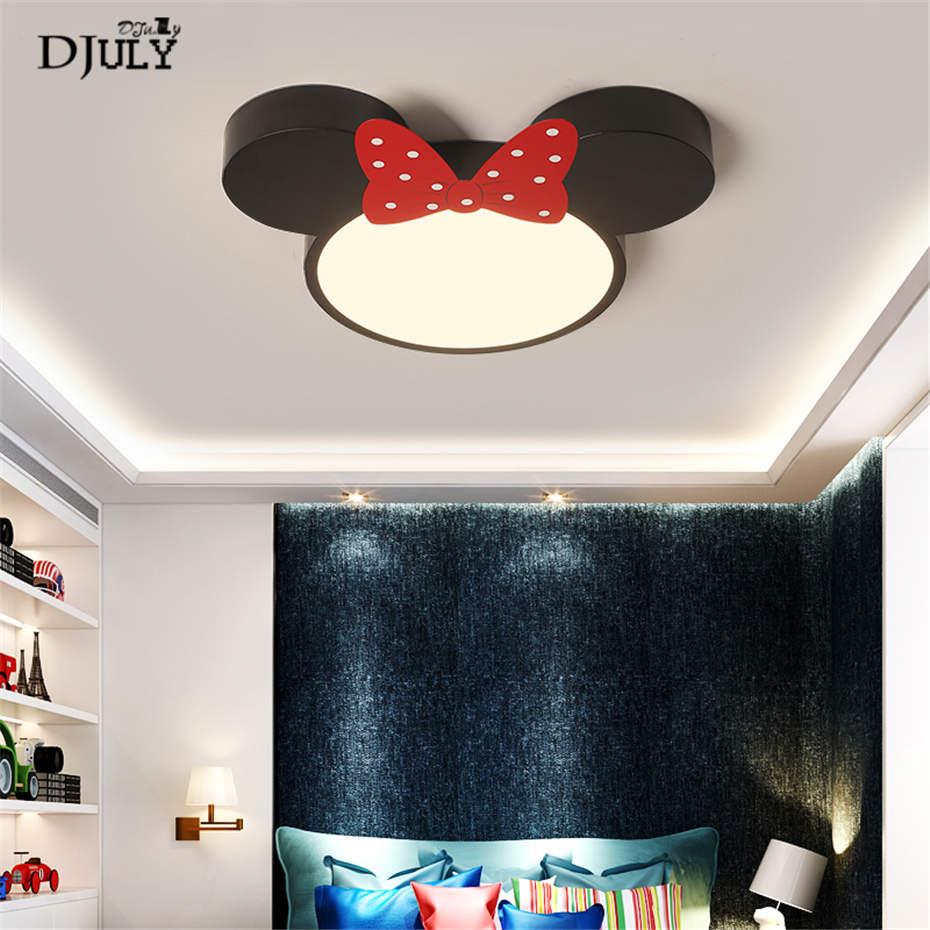 Dessin animé enfants pvc Mickey souris plafonnier pour enfants étude chambre salon luminaires LED télécommande luminaire