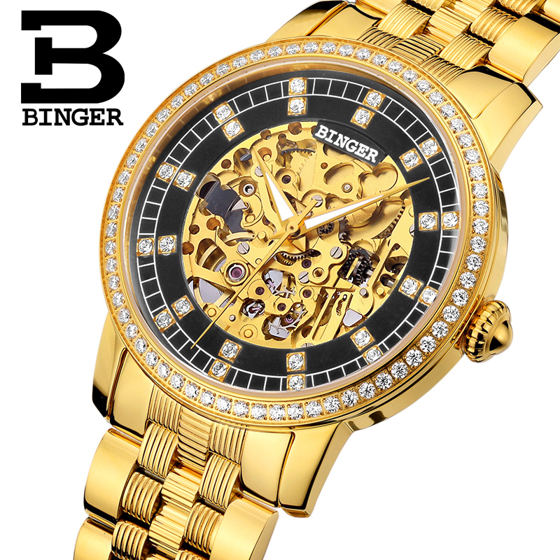 Switzerland Binger Watch Men Brand Luxury Miyota Automatic Mechanical Movement Men Watches Sapphire Waterproof Wristwatch 5051G2