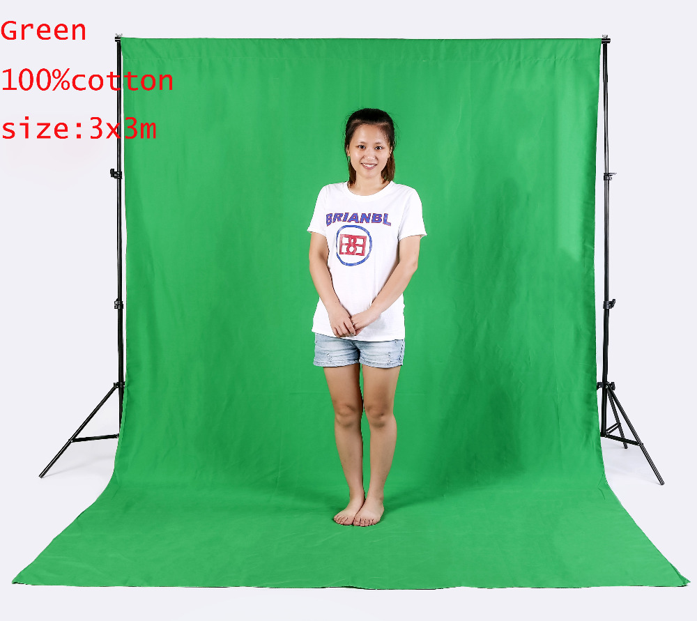 10x10FT 3x3M PRO Photo Studio 100 Pure Muslin Collapsible Backdrop Background for Photography Video Television GREEN
