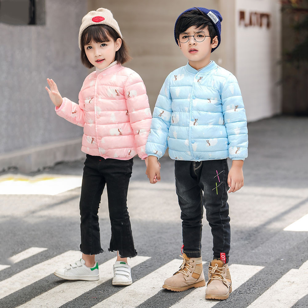 Kids Winter Jacket Girls Baby for Coat Cartoon Print Boy