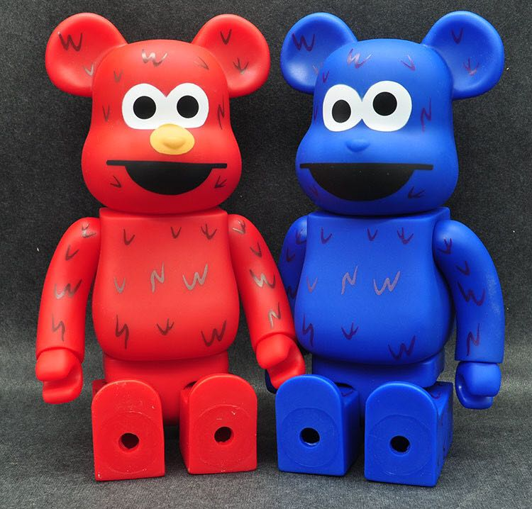11inch 400% Bearbrick Be@rbrick x SESAME STREET elmo cookie Model PVC Action Figure Collectible Toy fashion toy Gifts JM01