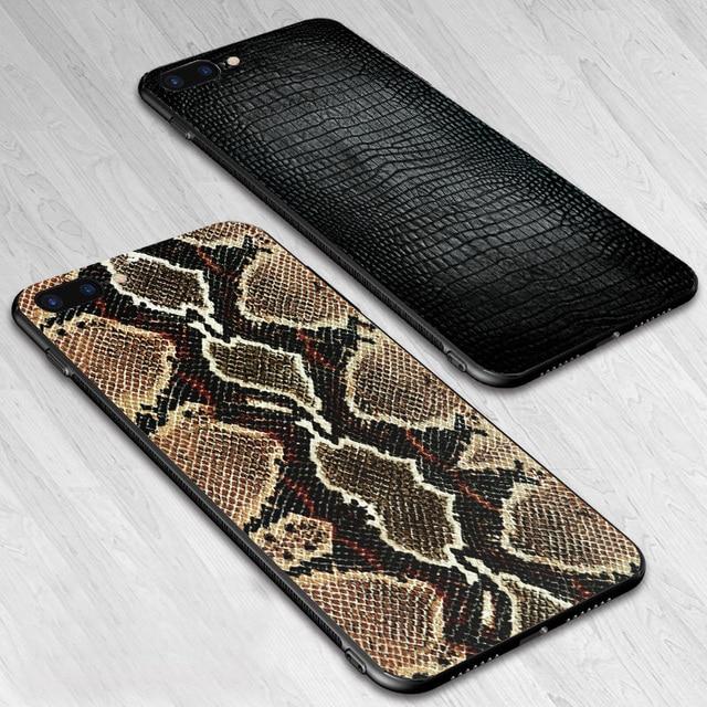 Casos de telefone Para o iphone 6 6 s 7 8 Plus X XS XR XS MAX Zebra Da Cópia do Leopardo Da Pele de Serpente crocodilo Macio TPU Silicone Tampa Traseira Shell