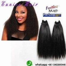Heat Resistant crochet braids Hair Yaki Style kinky straight 18″Premium Hair classic human feeling yaki straight freetress hair