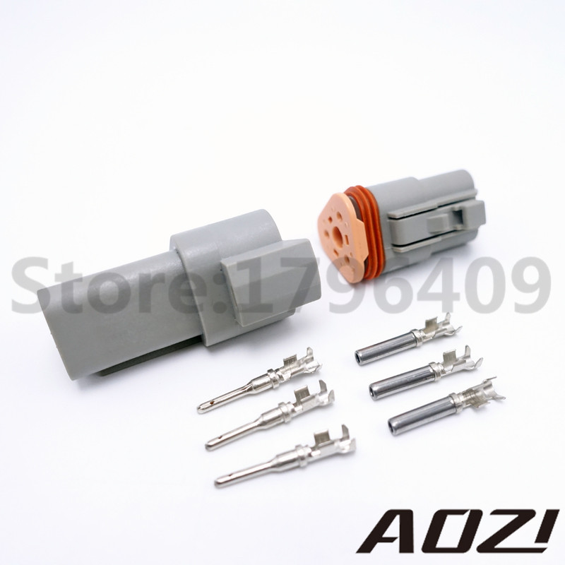 1 Set Car Part Kit 3 Pins Way Deutsch Style Waterproof Male Female Electrical Wire Connector Plug DT06-3S DT04-3P 54273 ngk high performance wire set part eux012