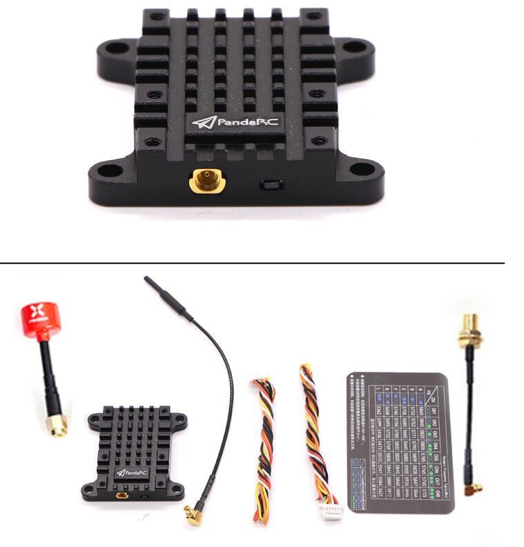Oyuncaklar ve Hobi Ürünleri'ten Parçalar ve Aksesuarlar'de PandaRC VT5804 V3 800/1000 mw 1 W 5.8G Verici VTX 25 mW 1 W Video Verici 16CH w/MMCX SMA/RP SMA Adaptör Konnektörü Anten'da  Grup 1
