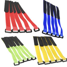5Pcs Magic Tape Straps Fastener for Li-Po Battery of RC Aircraft Boat YH-17(China)