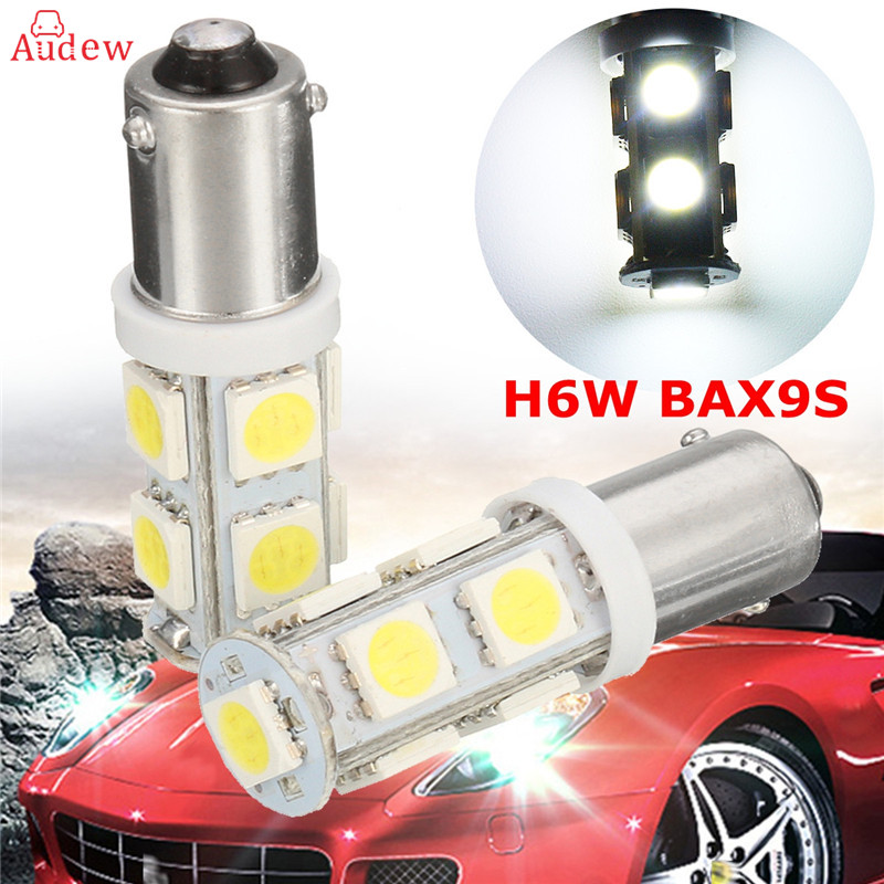 2X H6W BAX9S 9 SMD 5050 LED CANBUS Side Parking Light Bulbs Car DRL Interior Bulbs 12V Lights LED White Bulbs 2 x t10 led w5w canbus car side parking light bulbs with projector lens for mercedes benz c250 c300 e350 e550 ml550 r320 r350