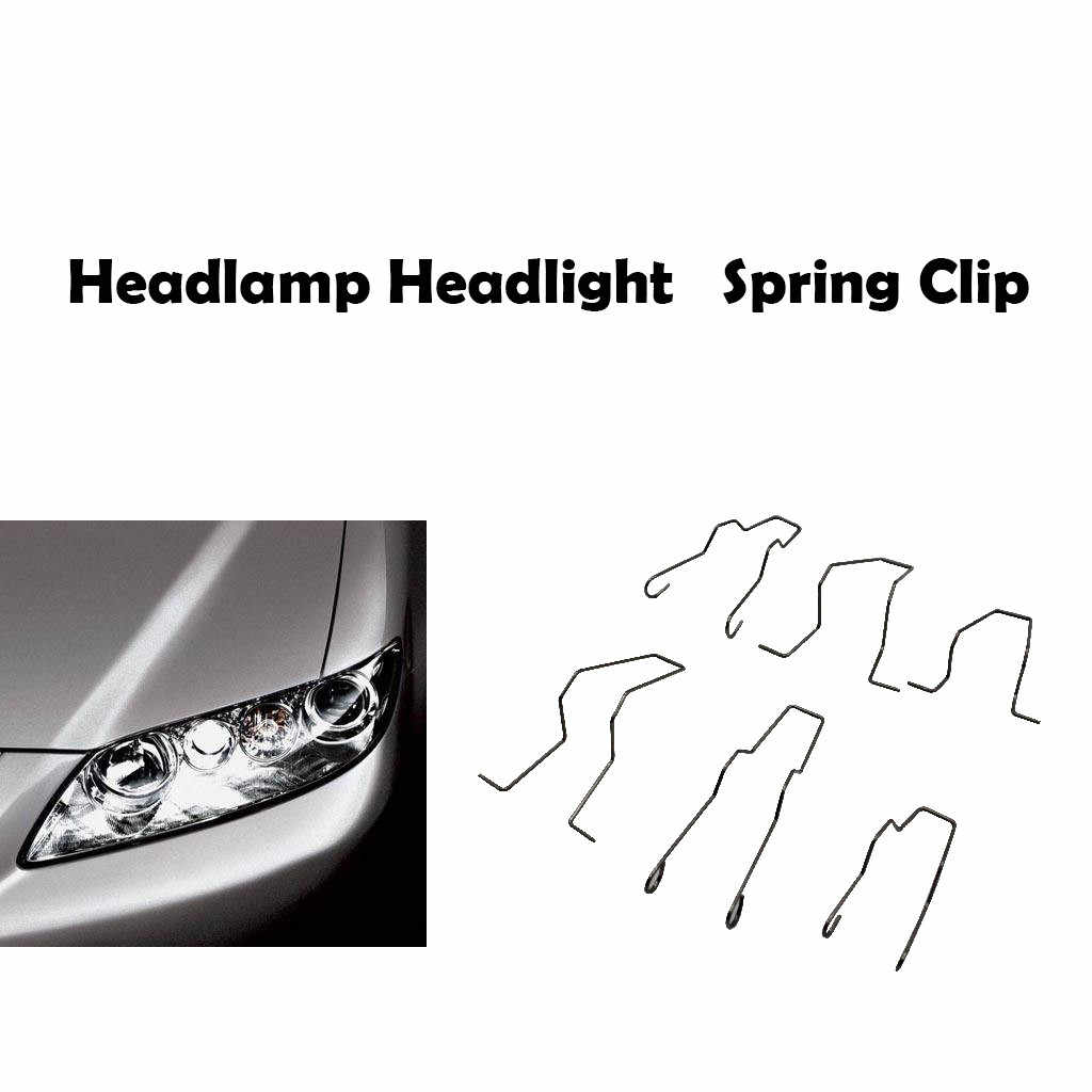 Franchise Headlamp Headlight Accessories Dip Dipped Beam Head Lamp bulb Retaining Spring Clip H1 H4 H7 #0521
