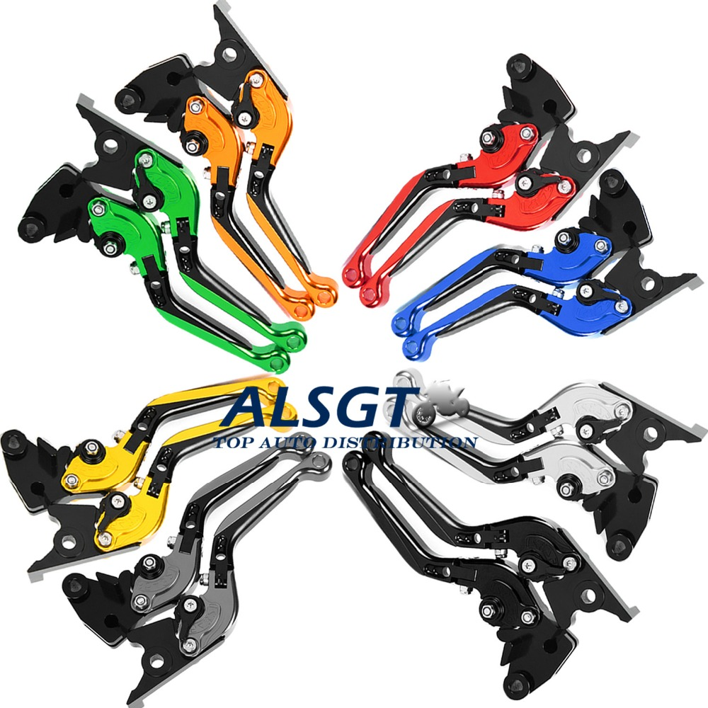 ФОТО For Suzuki GSX 750 Unfaired 1998-1999 Foldable Extendable Brake Clutch Levers Motorbike Brakes Folding&Extending CNC Levers New