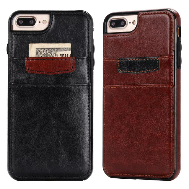 promo code 774ef d1bfa US $4.39 12% OFF|Mooshion brand Luxury Slim Hybrid 2 layer Credit Card  pocket with stand Leather Phone case Back Cover for iPhone 7 7 Plus 6s 6-in  ...