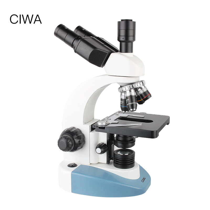 CIWA Professional Biological 40X-1600X Microscope Binocular Binoculars HD Science experiment LED Professor Monocular Microscope 40x 1600x digital usb video dural binocular microscope with halogen lamp txs06 02dn