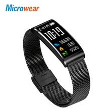 Microwear X3 IP68 Waterproof Smart Wristband blood pressure measurement Bracelet fitness tracker Band Watch Android iOS