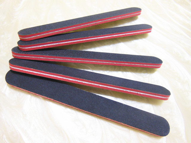 50 pcs/lot black emery board nail salon boards profesional nail file ...