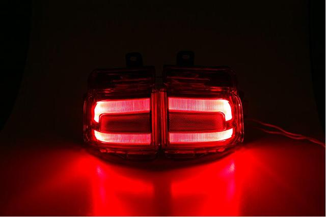 2pcs Accessories LED Rear Tail Fog Lamp Fog Light Upgrade Kit For Toyota LAND CRUISER J200 LC200 2016 2017 Facelift
