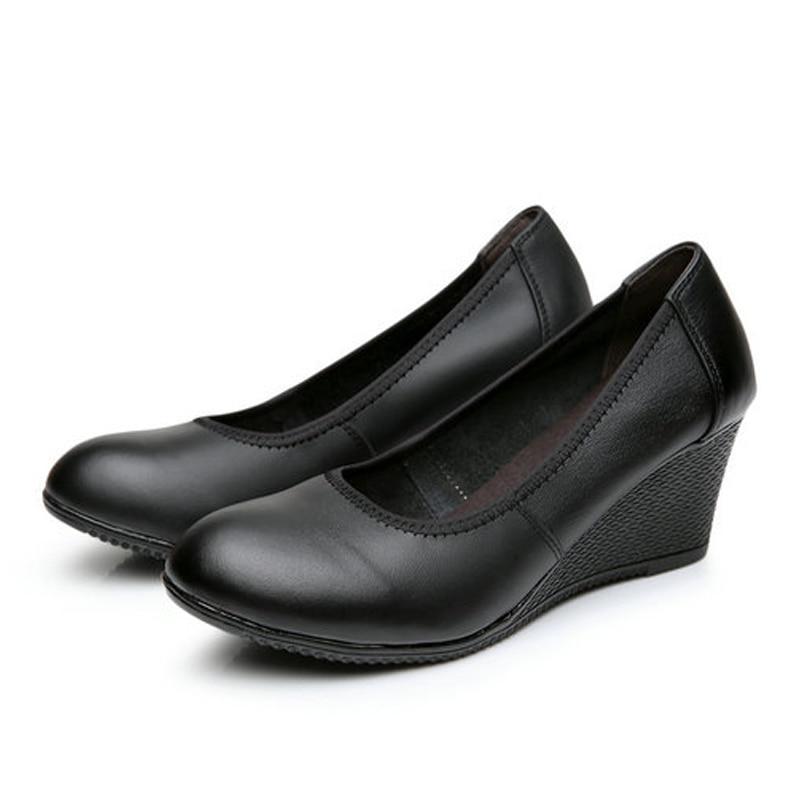 white 5cm Sapatos Cuero Para Femininos Auténtico Resbalón black Las 2017 3 Mujeres Zapatos En Ocasionales 6cm 40 Bombas 6cm 0 3 Oxford 34 Mujer Cuñas Zk4 Heel 5cm Tamaño Black white pxw5O8qO6g