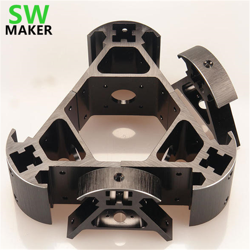 SWMAKER Colorful all metal 3D Kossel printer 2020 aluminum alloy delta angle corner kit Kossel corner kit-in 3D Printer Parts & Accessories from Computer & Office    1