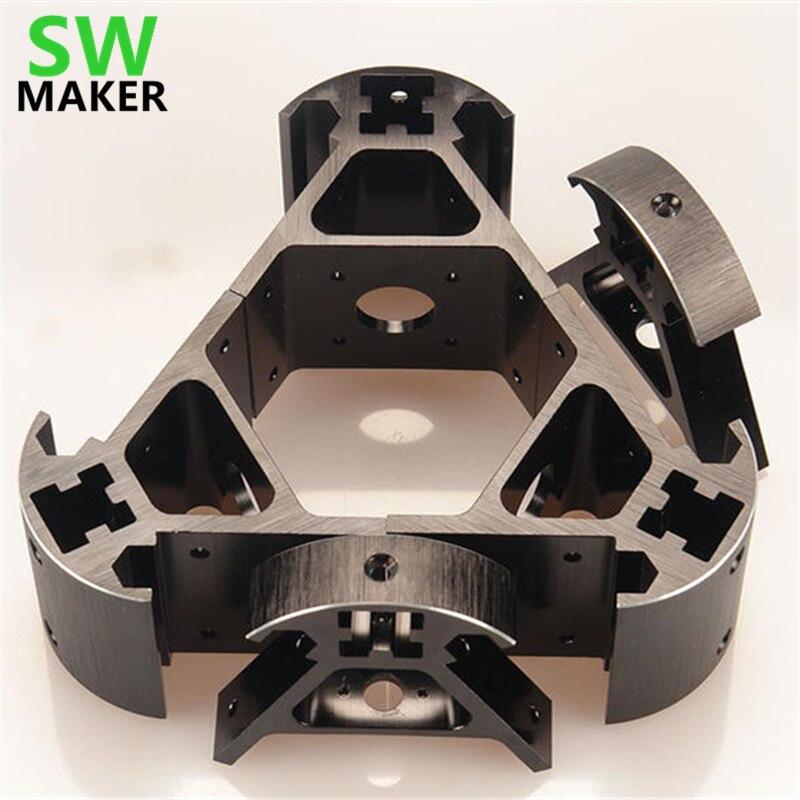 SWMAKER colorido todo metal 3D Kossel impresora 2020 aleación de aluminio delta angle corner kit Kossel corner kit