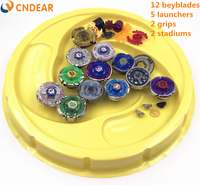 Free Shipping Beyblade Stadium Metal Fusion 4D Freies Spinner Top Launcher And Grip Arena Children Toys