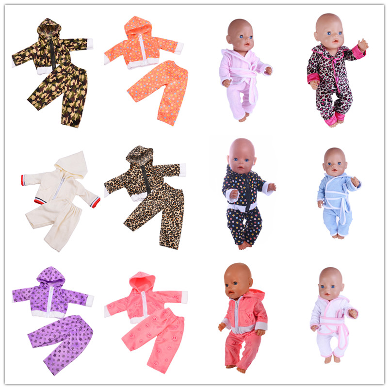 Doll Sports Suits Fit For 43cm Baby Born Zapf Doll Reborn Baby Clothes And 17inch Doll Accessories purple baby born doll dress clothes fit 43cm baby born zapf or 17inch doll accessories handmade fashion party skirt 015