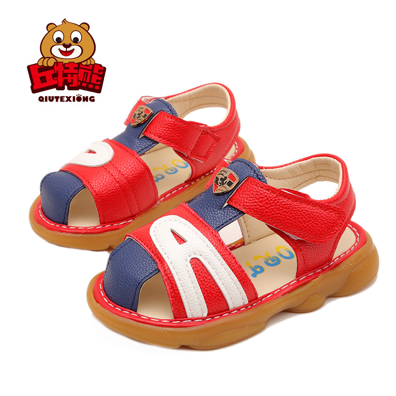 Sandals for Girls Fashion Patchwork Boys Summer Sandals Toe Cover Kids Swimming Beach Orthopedic Footwear for Children