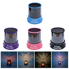 цена на Creative LED Night Light Projector Star Light Sky Moon Master Children Kids Baby Romantic Colorful Home Decor Projector Lamp