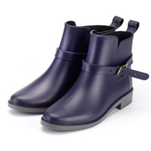Fashion Autumn Shoes Woman Outdoor Rainboots Casual Shoes Spring Waterproof Boots Anti skid Ankle Rain Boots Zapatos De Mujer