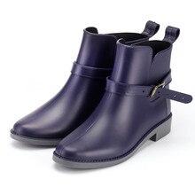 Moda sonbahar ayakkabı kadın açık yağmur botları rahat ayakkabılar bahar su geçirmez botlar Anti skid ayak bileği yağmur çizmeleri Zapatos De Mujer