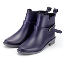ファッション秋の靴の女性屋外 rainboots カジュアルシューズ春防水ブーツアンチスキッドアンクルレインブーツ zapatos デ mujer