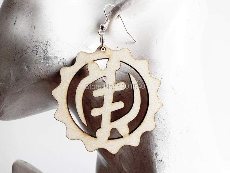 Free Shipping 2015 Hot Natural Afro Wood Africa Adinkra