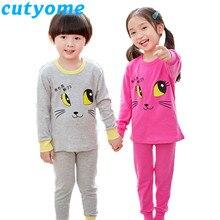 12c6877e57 2019 Animal de algodón de los pijamas de los niños conjuntos de manga larga  Patchwork ropa de dormir adolescente niños niñas pri.