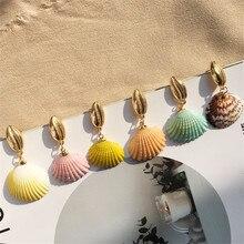 New Multicolor Ocean Earrings Bohemian Shell Conch Drop For Women