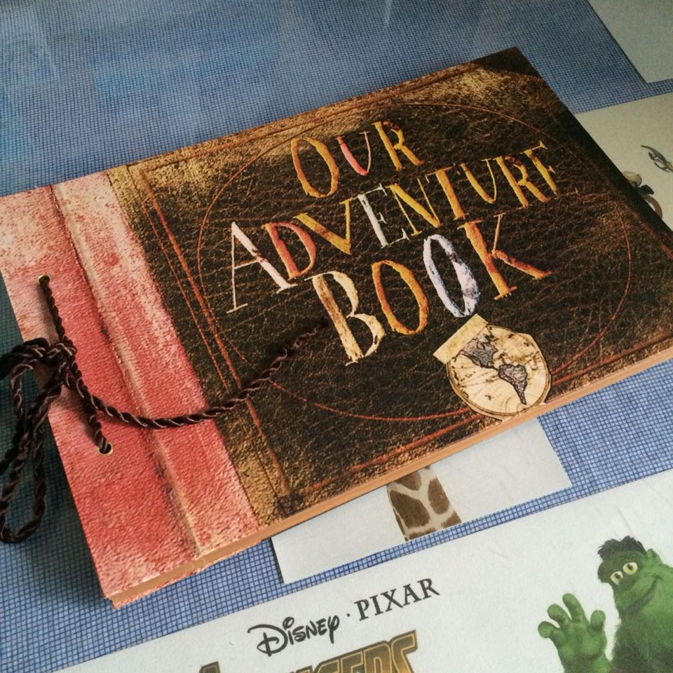 US $22 49 25% OFF|Our Adventure book ,My adventure book ,Movie Up ,DIY  Scrapbook, photo album, 80 pages,wedding guest book,Christmas gift -in  Photo