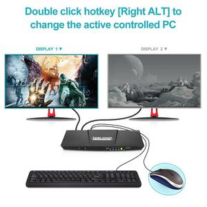 Image 5 - 2 Port Ausgang HDMI + VGA HDMI Dual Monitor Kvm switch HDMI KVM Unterstützung USB 2,0 Ports Tastatur und maus bis zu 4K @ 30Hz HDMI KVM
