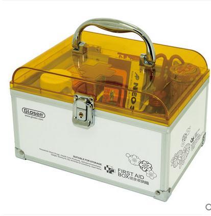 215*145*140 мм Семья аптечке Многослойные Медицинского аптечка медицины бытовой дети получают случае пластиковая коробка