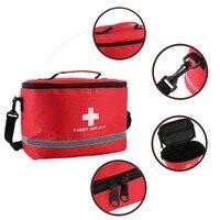 Аптечка первой помощи Спортивная походная сумка Домашний медицинский аварийный аварийно-спасательный пакет красный нейлон яркий крест си...